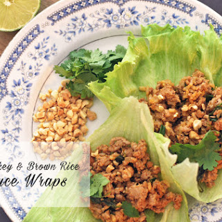 Thai Turkey and Brown Rice Lettuce Wraps
