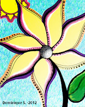 Photo: Artist created a line drawing, added color and texture using Photoshop CS5.