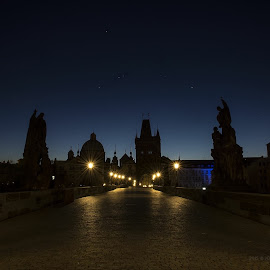 Charles Bridge at sunset.. by Jo Wood - Novices Only Street & Candid
