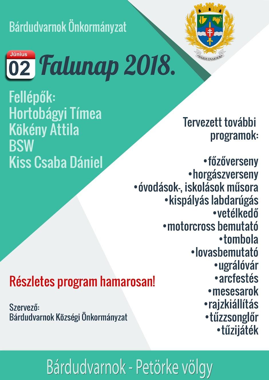 Falunap tervezet 2018