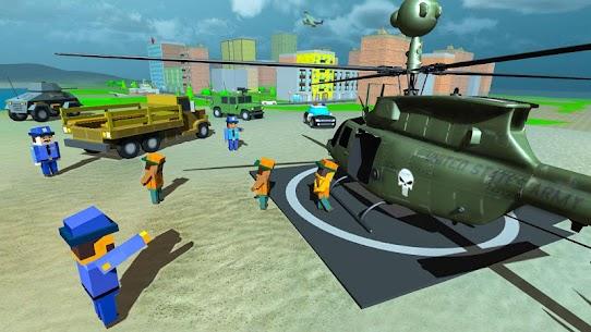 Blocky Vegas Crime Simulator:Prisoner Survival Bus 2
