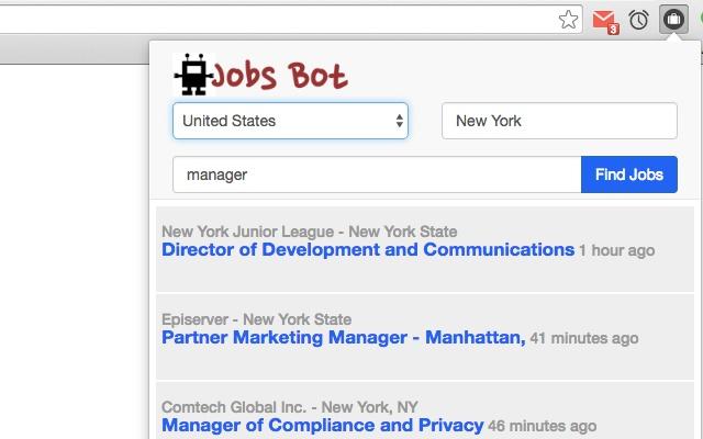 Jobs Robot chrome extension