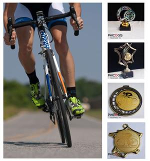 équipement cyclisme, trophée vélo, coureur cycliste