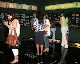 """Photo: Depois da reunião, visitamos a interessante exposição """"Galeria de valores"""". Fomos guiados por funcionário do CCBB."""