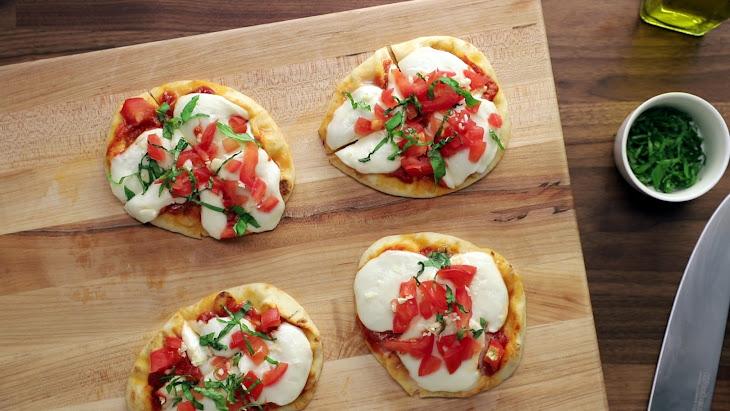 Margherita Naan Pizzas Recipe
