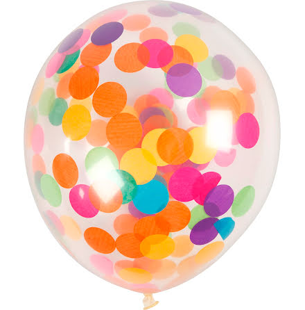 Ballonger konfetti 23cm 4/fp