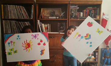 Photo: showing off their cutie mark paintings