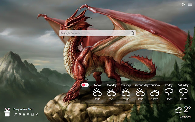 Dragon New Tab, Wallpapers HD