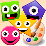 Little painter. Drawing basic geometric shapes Icon