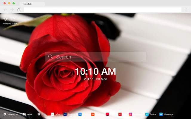 Rose New Tab Page HD Pop Flowers Theme