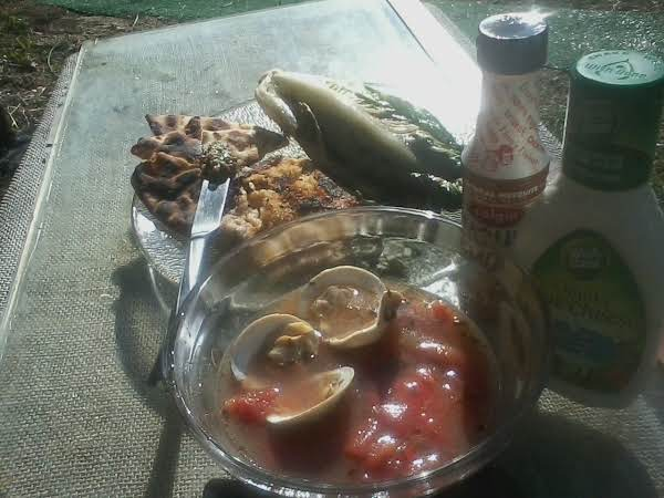 Cioppino Stew, With Grill Romaine Lettuce & A Rutabagus Patie