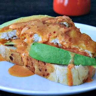 Golden Avocado Toast with Spicy Kimchi Sauce