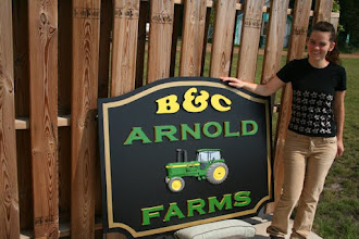 Photo: B&C Carved Wood Farm Sign, more carved signs at www.nicecarvings.com