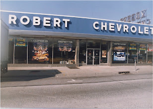 Photo: Robert Chevrolet's showroom back in the day.