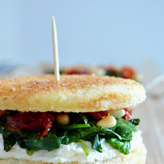Fancy Spinach Grilled Cheese Sandwich.