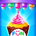 Ice Cream Cone Cupcake-Bakery Food Game icon