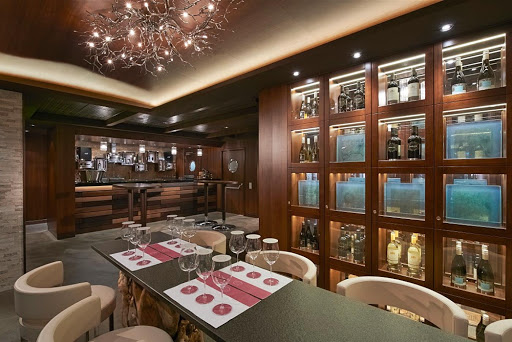 norwegian-escape-wine-bar.jpg - The Cellars, Norwegian's first wine bar, was opened in partnership with the Michael Mondavi family.