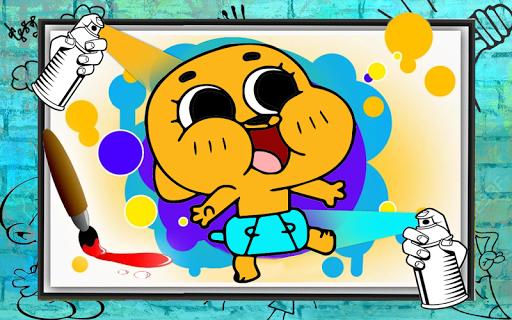 Gumballl : Coloring for Darwin  screenshots 1