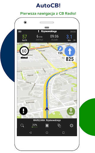 AutoMapa GPS navigation, CB Radio, radars, traffic 5.4.6 (2416) screenshots 1