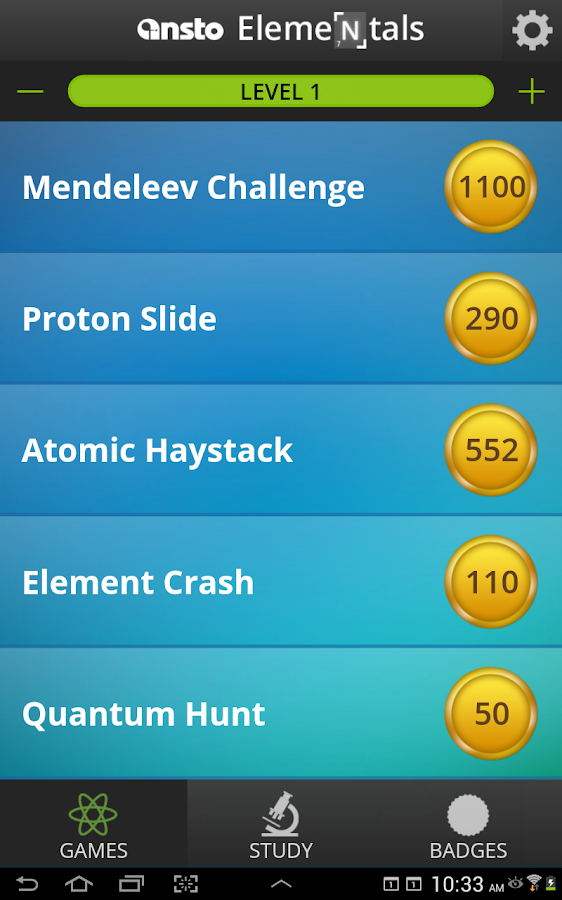 Elementals periodic table game android apps on google play elementals periodic table game screenshot urtaz Images