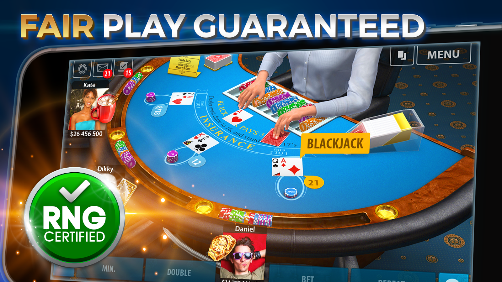 Blackjack rules 2 player
