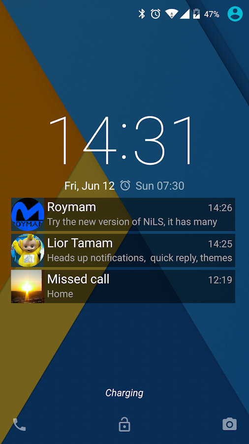 NiLS Lock Screen Notifications- screenshot