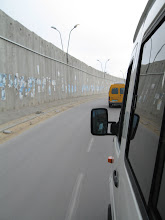 Photo: Driving along the security wall