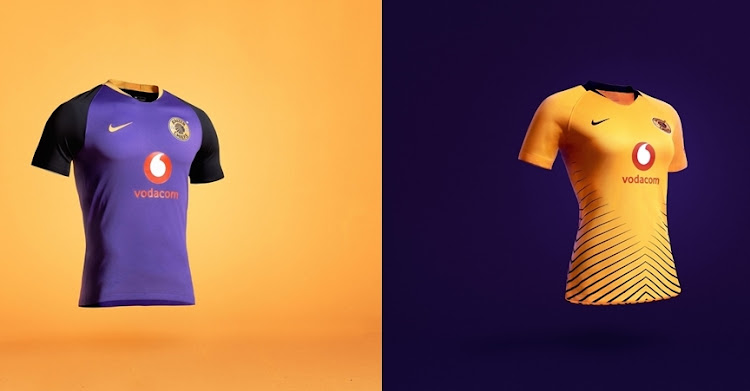 92f6d6a10 Kaizer Chiefs also unveiled their new away jersey (left) and ladies jersey  (right