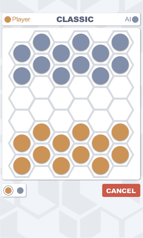 Hexers - hexagonal checkers- screenshot