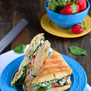 Turkey Spinach Artichoke Panini.