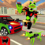 Cat Robot Car Battle:Transformation Robots War 3D