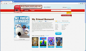 Photo: Before leaving to Walmart I checkout My Friend Bernard on the Redbox website so I can read what it's about.