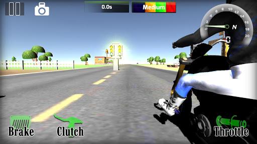 Motorbike real 3D drag racing Wheelie Challenge 3D  screenshots 4