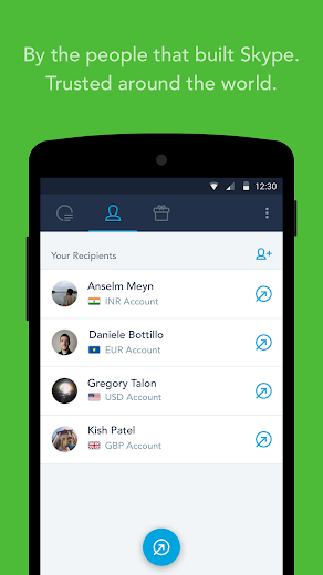 Screenshot 2 for TransferWise's Android app'