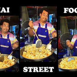 Thai Street Food Faces of Pleasure by James Morris - Typography Captioned Photos ( thai street food, thailand faces of pleasure, street, peoople, vendors, food )