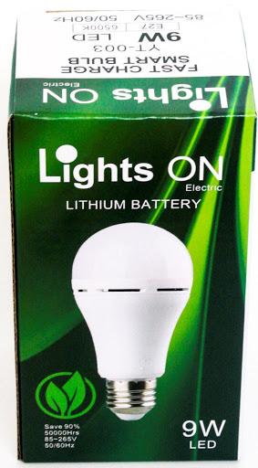 bombillo light recargable on led verde 9w