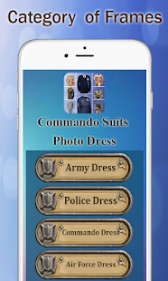 Commando Suits Photo Frames screenshot