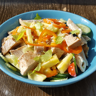 Turkey, Celery and Pineapple salad