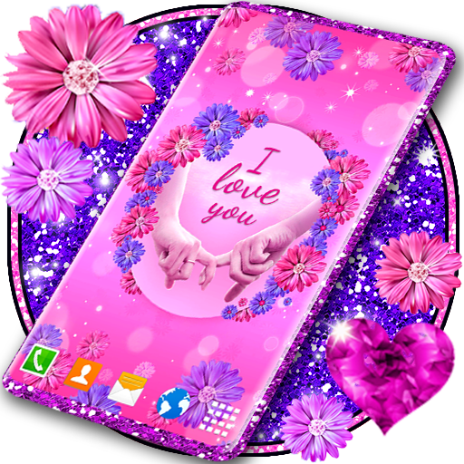 Love You Live Wallpaper Couple Hearts Themes