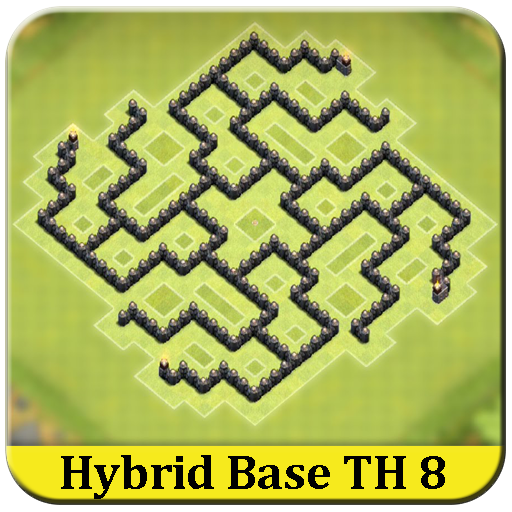 town hall 8 hybrid base coc app apk free download for android pc