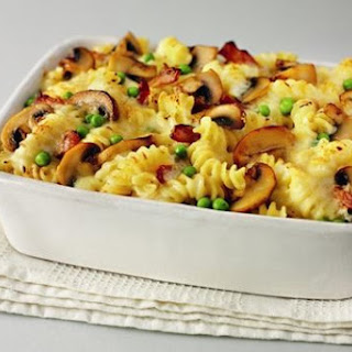 Creamy Mushroom and Bacon Pasta Bake Recipe