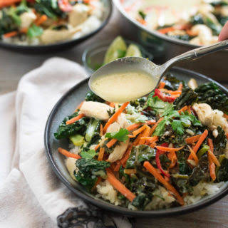 Green Curry with Chicken and Kale.