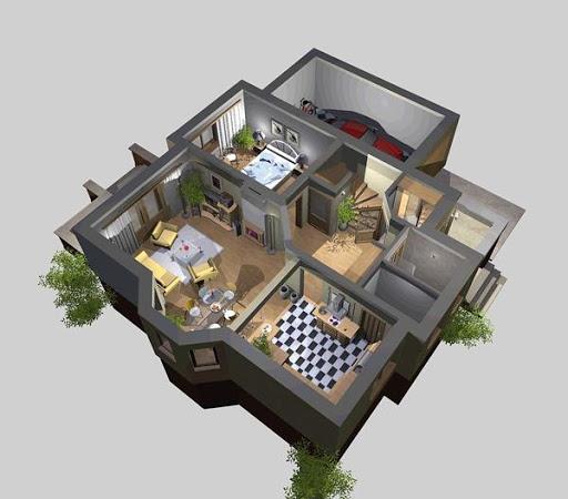 APS 011 - Rzut parteru 3D