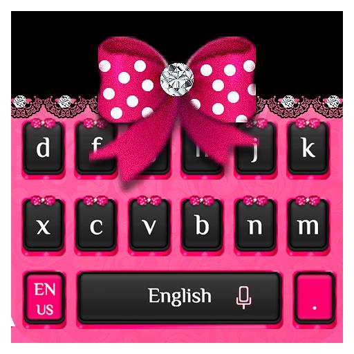Pink Diamond Bow Keyboard