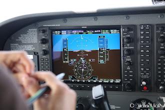 Photo: Autopilot satt til å følge GPS track.