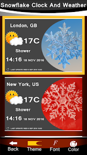 Snowflake Clock And Weather - náhled
