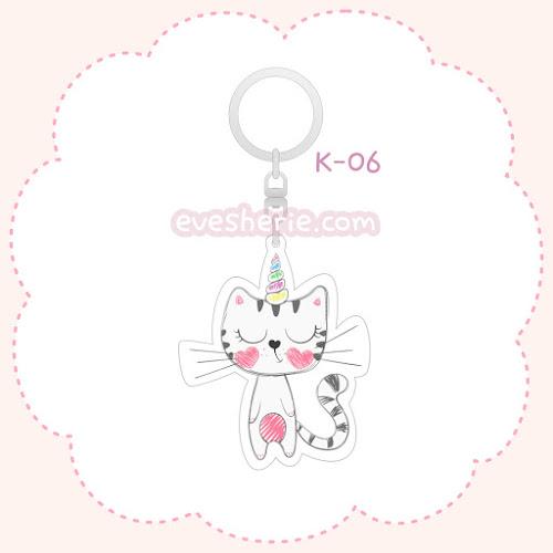 พวงกุญแจอะคริลิค ลายแมวยูนิคอร์น พวงกุญแจแมวยูนิคอร์น