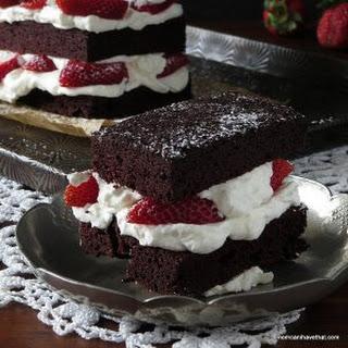 Strawberries and Cream Chocolate Torte