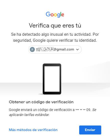 Activar la verificación en 2 pasos