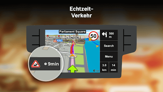Sygic Car Navigation - Offline-Karten Screenshot